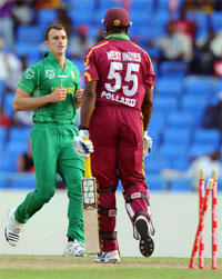 8th match of ICC Champions Trophy 2013 is between South Africa and West Indies.