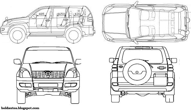 Bold autos 081311 toyota prado blueprint malvernweather Image collections