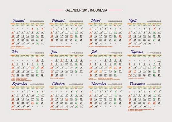 Download Kalender 2015 Indonesia Lengkap Dengan Hari Libur | Share The ...
