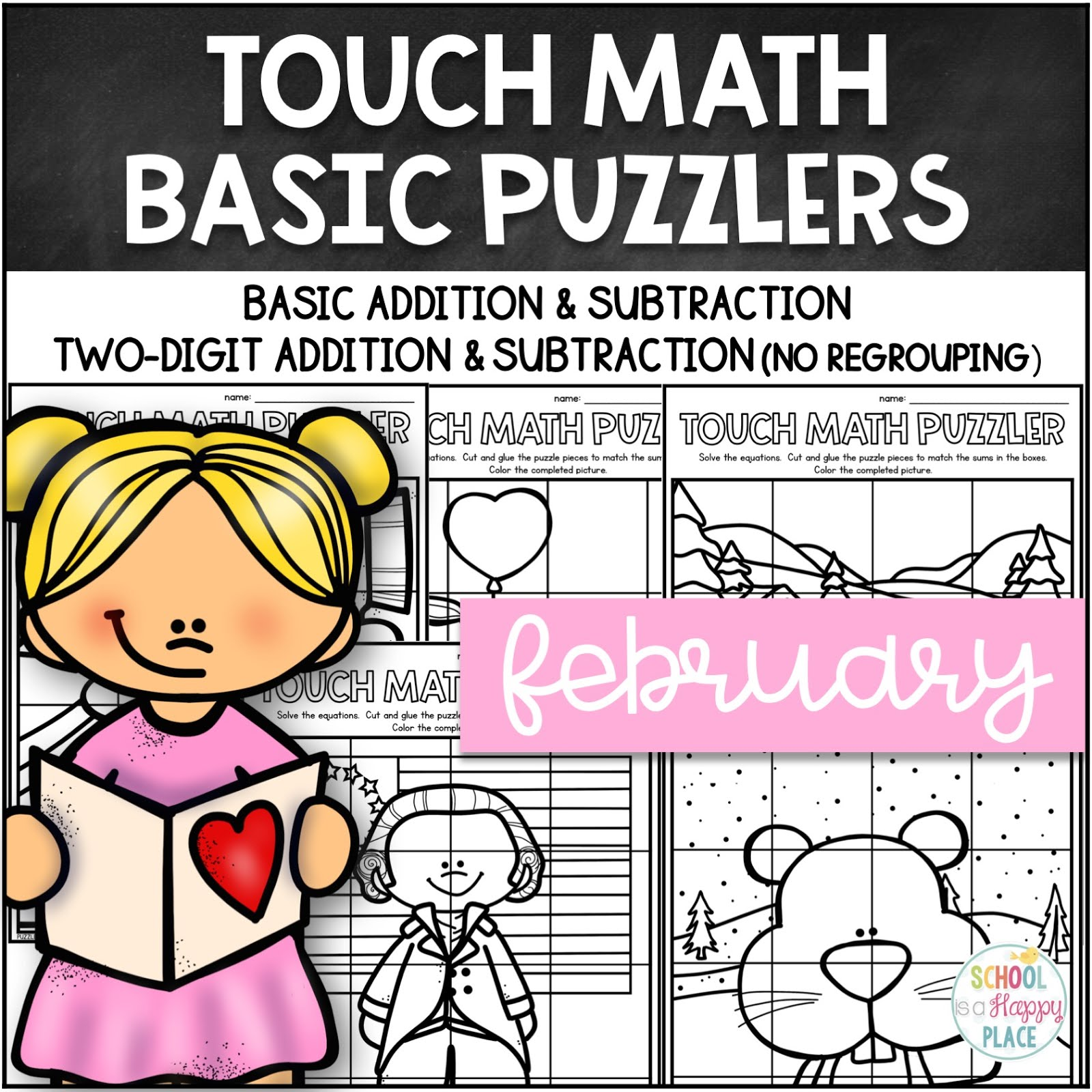 Touch Math Puzzlers for February