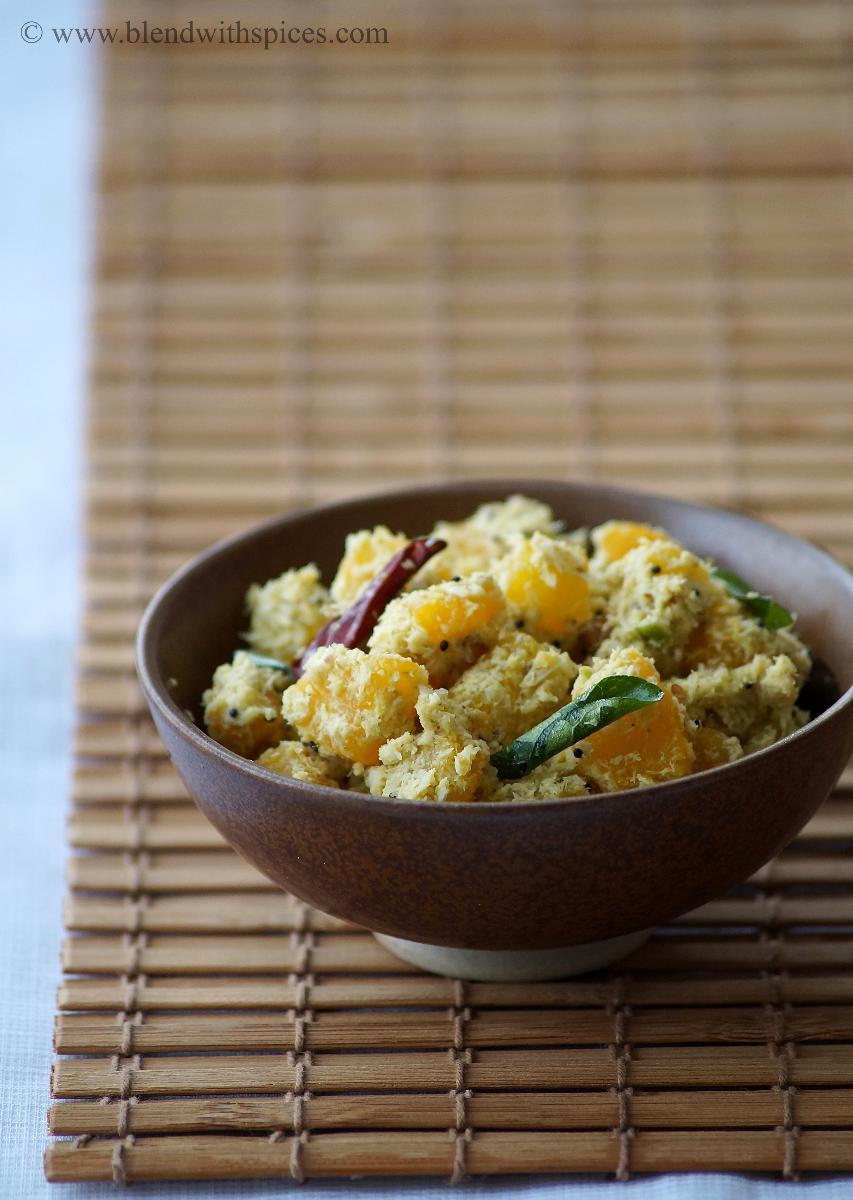 mathanga thoran recipe, how to make kerala pumpkin curry, onam recipes, onam sadhya recipes