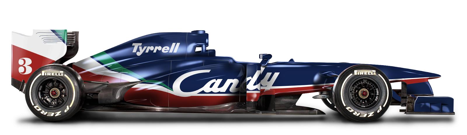 Retro F1 Car Tyrrell 1980 De Bastiani Design