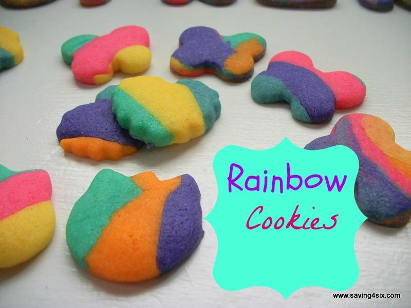 Rainbow Cookies | Saving 4 Six
