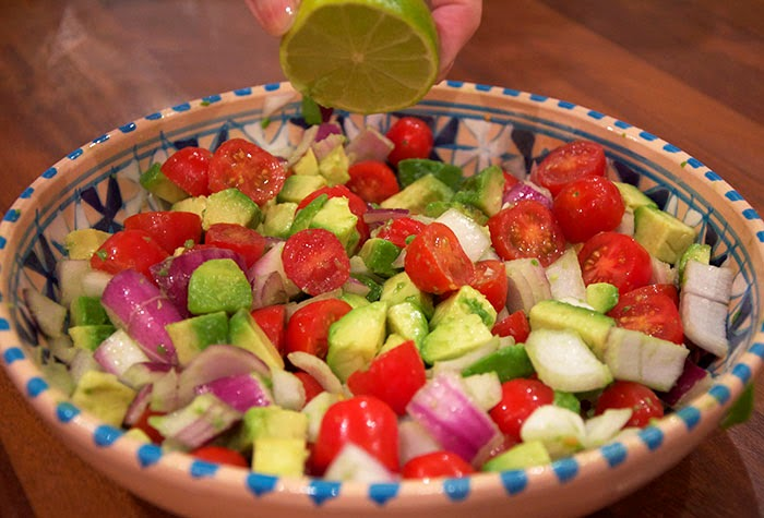 Mexican Guacamole Onion Tomato Lime Salad Party