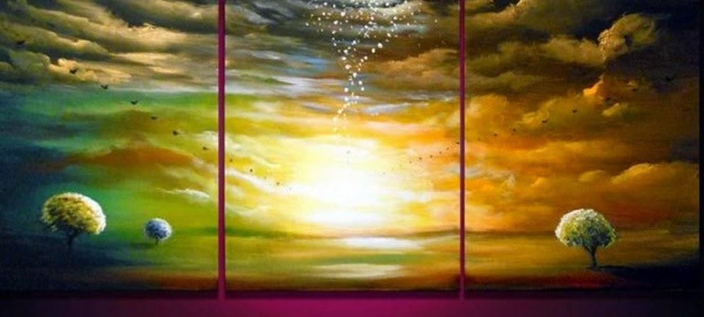 Im genes arte pinturas pinturas al leo paisajes for Cuadros horizontales modernos