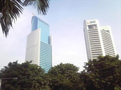 Alamat lengkap dan lokasi gedung kantor pusat Bank BNI 46.