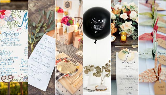 Decora tu boda Pinterest: detalles económicos y con encanto - Menú
