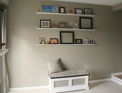floating photo shelves