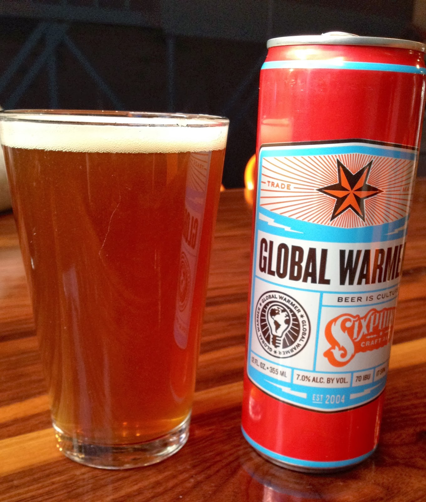 Beer Review (25): Sixpoint Brewery Global Warmer