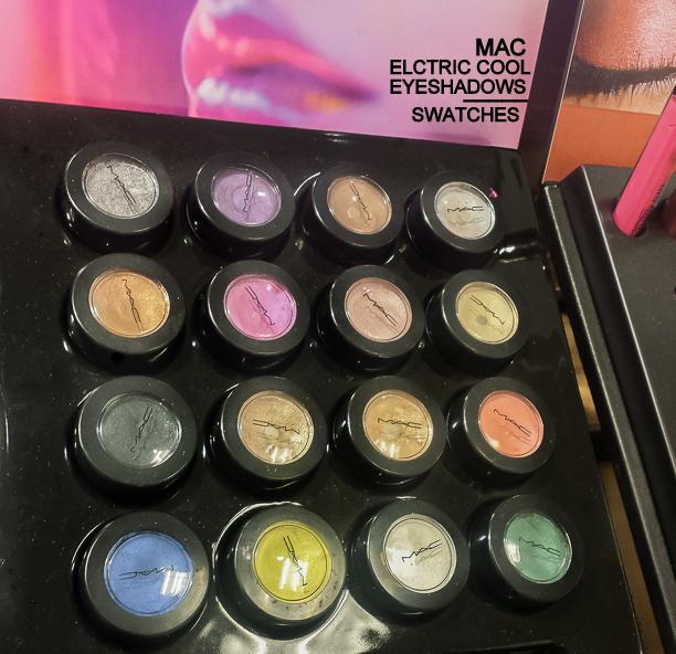 MAC Electric Cool Cream Eyeshadows 2015 Swatches