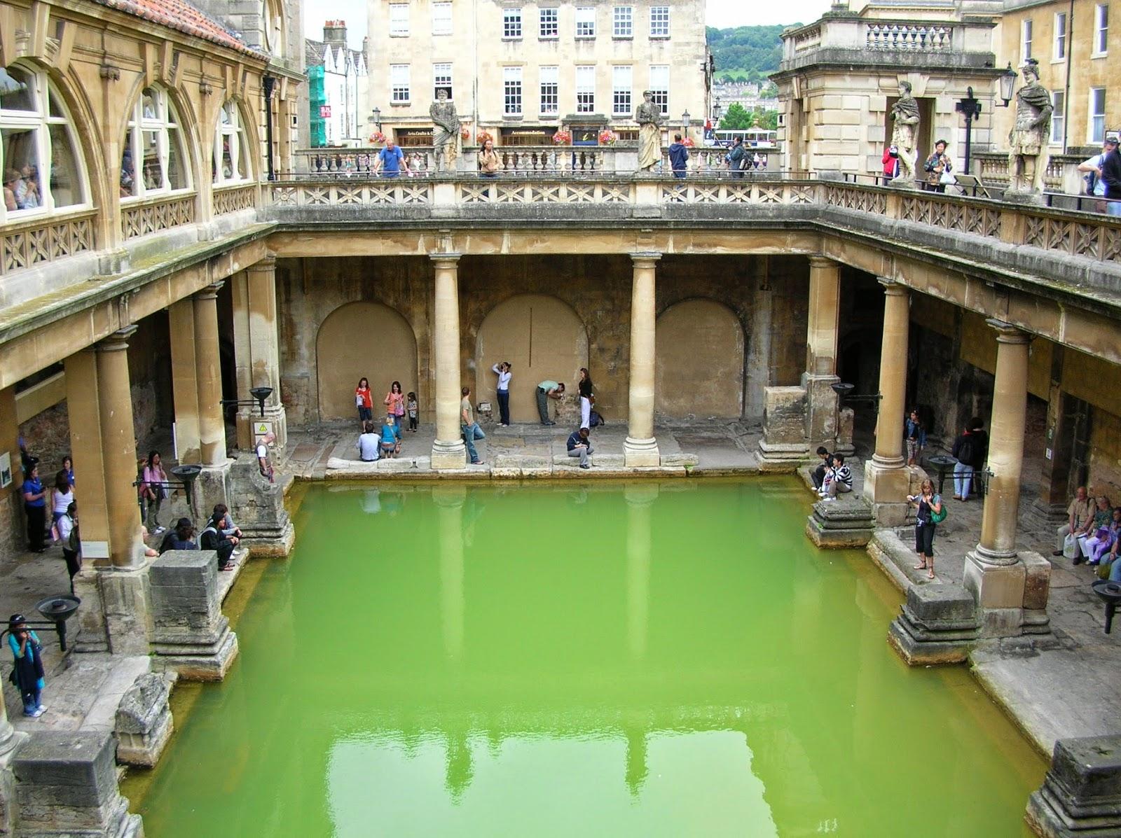 Termas romanas en la ciudad de Bath