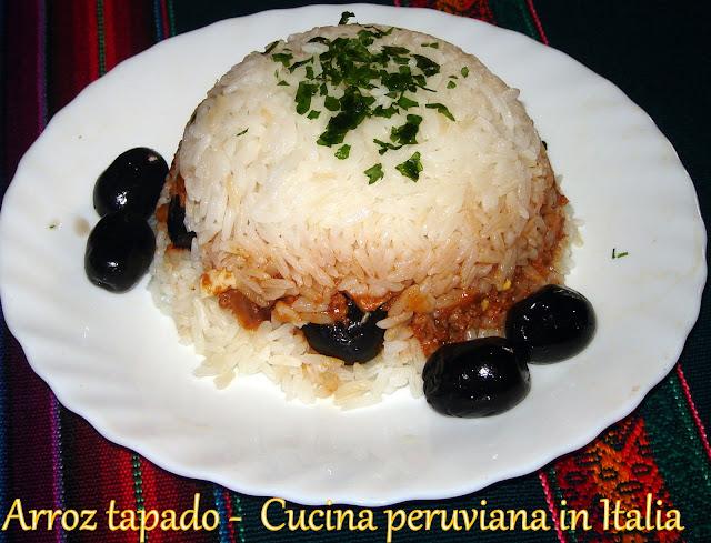 Cucina peruviana in Italia: Arroz tapado
