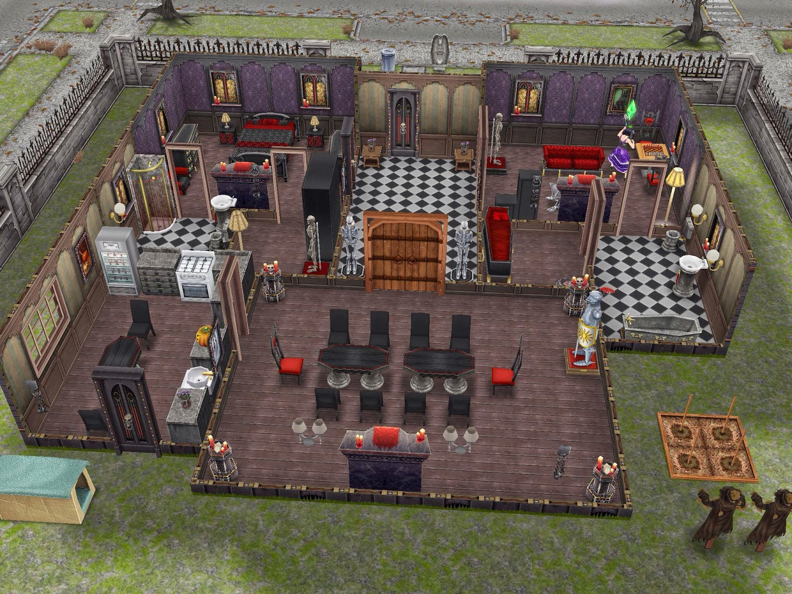 Mod The Sims - The Haunted - A Spooky Haunted Mansion with a ...