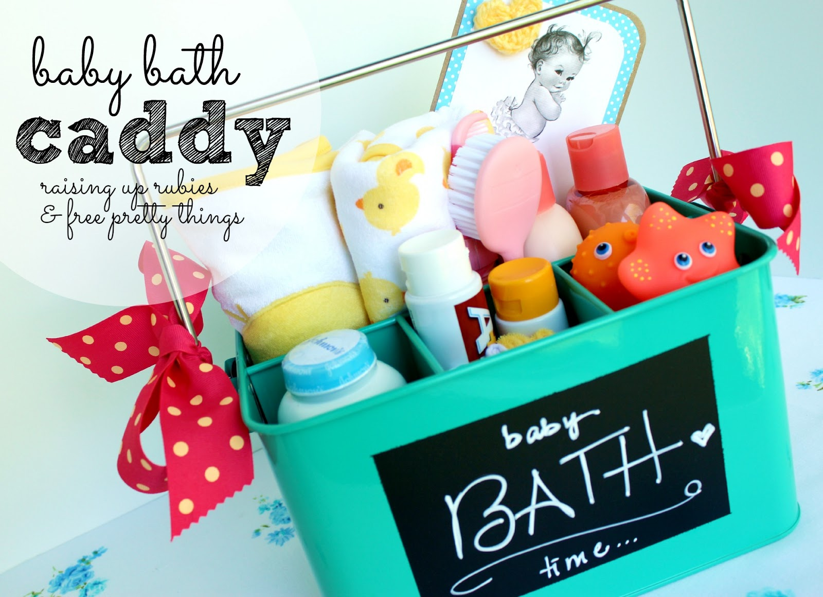 Baby Gift Idea ♥ Bath Time Caddy