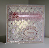 Wedding Card in Pink n White
