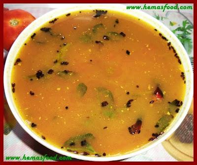 Tomato Daniyala Rasam - Tomato Coriander Stew