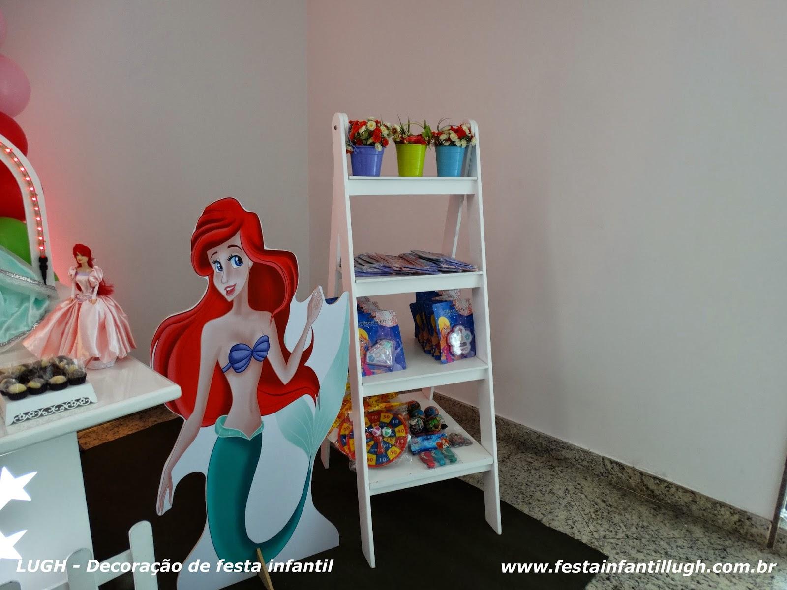 Tema de festa  Ariel para decoração infantil