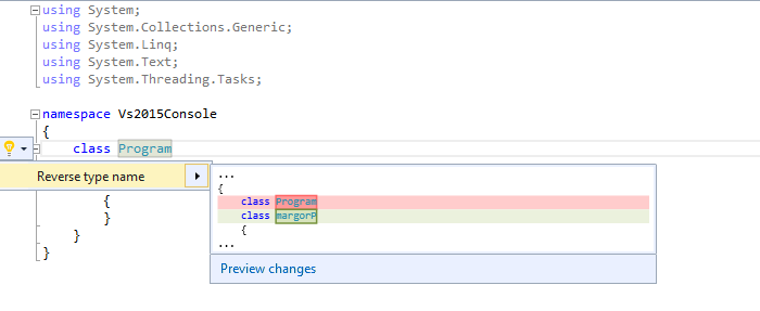 Write Code Refactoring Extensions in Visual Studio 2015 - CodeProject