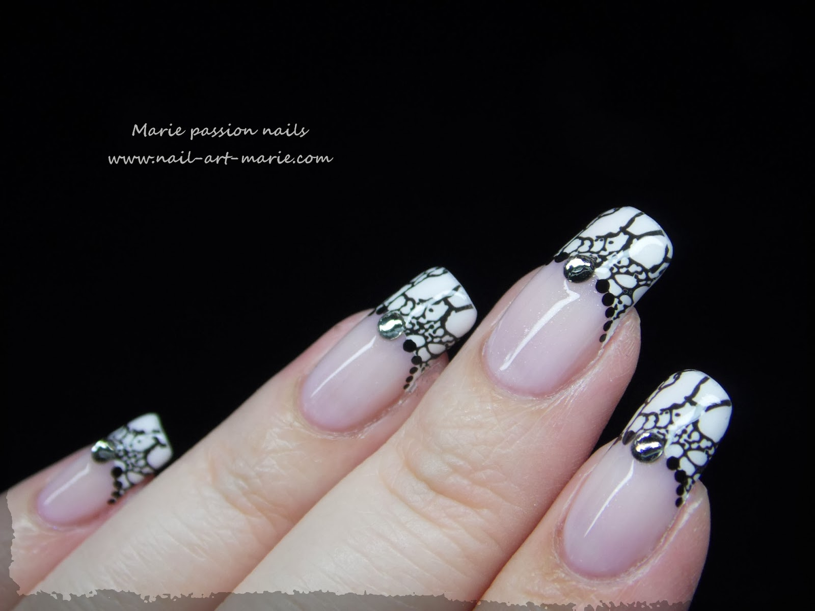 Nail art French effet faux ongles5