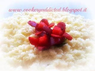 mimosa velvet con crema alla fragola