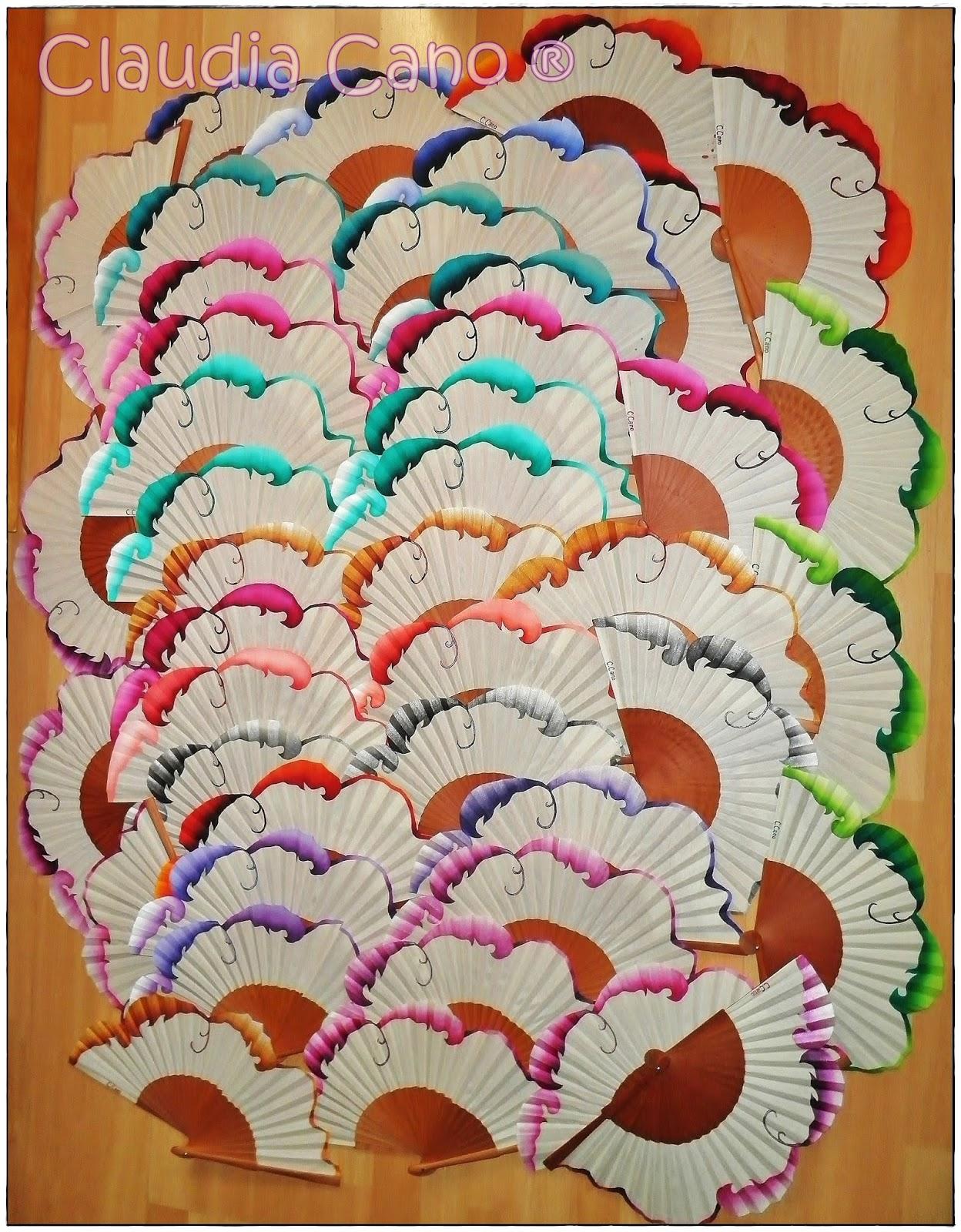 Abanicos para bodas y eventos claudia cano - Abanicos pintados a mano originales ...
