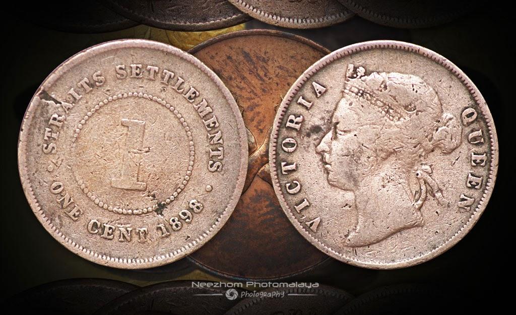 Malaya coin Straits Settlements 1 Cent 1898