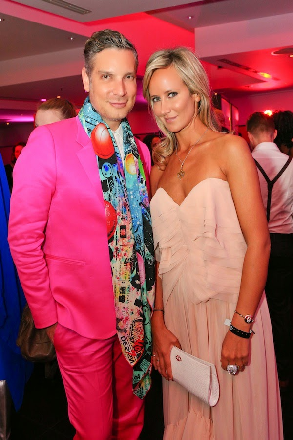 Cameron Silver Paul Smith pink suit 2014 Life Ball Welcome Cocktails Party Vienna