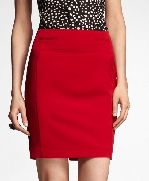 the colorful pencil skirt