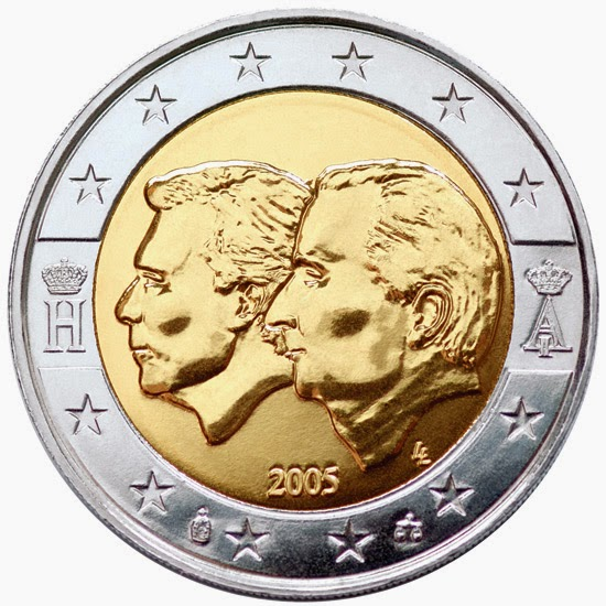 2 euro coins 2005 Belgium Luxembourg Economic Union
