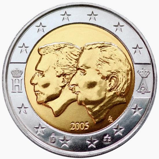 2 euro coins 2005 Belgium Luxembourg Economic Union