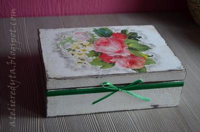 Decoupage, pudełko decoupage, herbaciarka