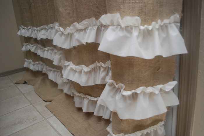 DIY Make Burlap Curtains with Ruffles - Classy Clutter