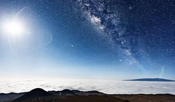 Vía Láctea desde la cima de Mauna Kea, Hawaii