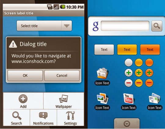Photoshop Android GUI Set