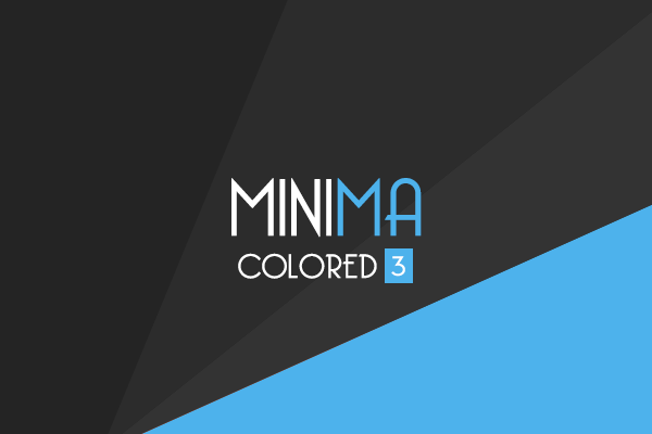 Minima Colored 3 Responsive Blogger Template