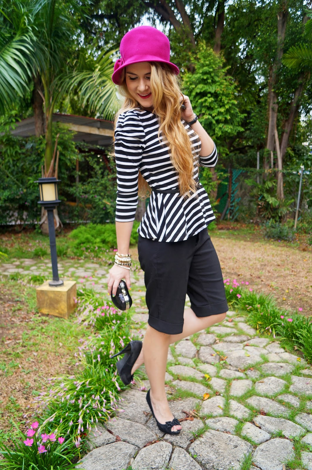 Fashion Blog, Parisian Outfit, Forever 21 Peplum Top