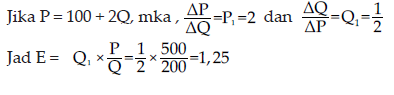 contoh persamaan elastisitas 2