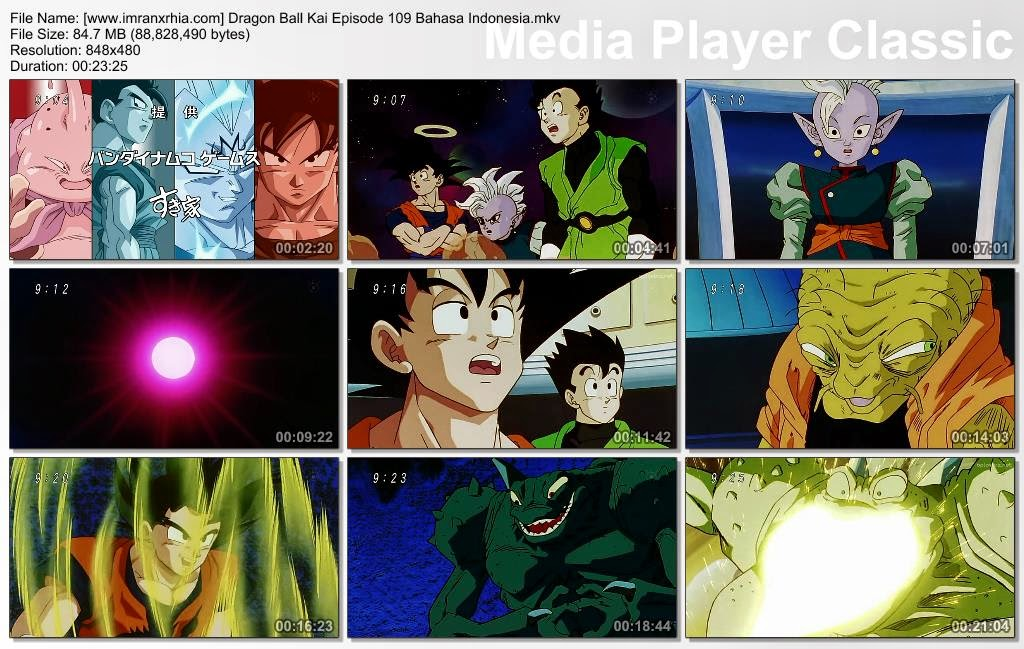 Download Film / Anime Dragon Ball Kai Episode 109 (Jangan Remehkan Super Saiya! Kekuatan Penuh Goku dan Vegeta!) Bahasa Indonesia