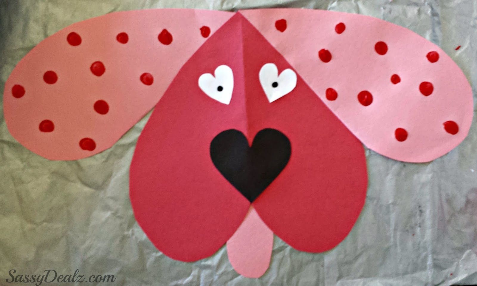 Cute dog valentines day craft for kids crafty morning for Valentine day crafts for kids