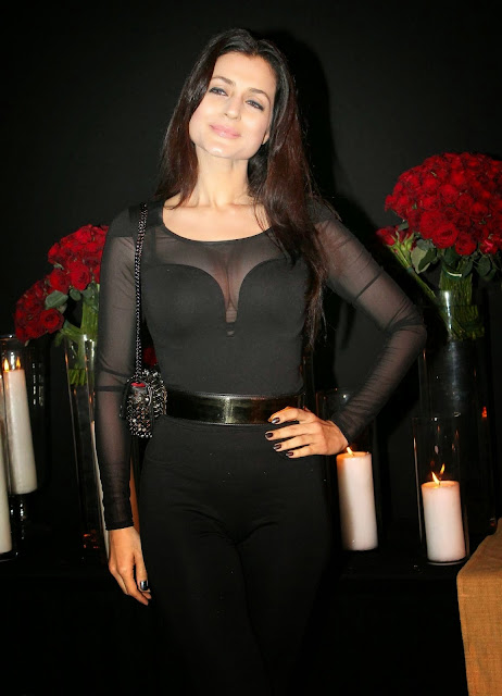 Ameesha Patel in Black Dress in Bash Party