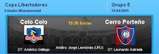 Ver Colo Colo vs. Cerro Porteño EN VIVO 20 Abril 2011
