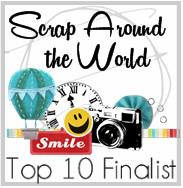 Top Ten finalist at Scrapping Around The World