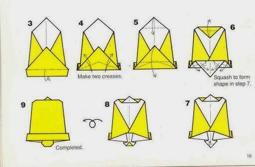 Campana de navidad en origami papiroflex a para ni os - Arbol de navidad de origami ...