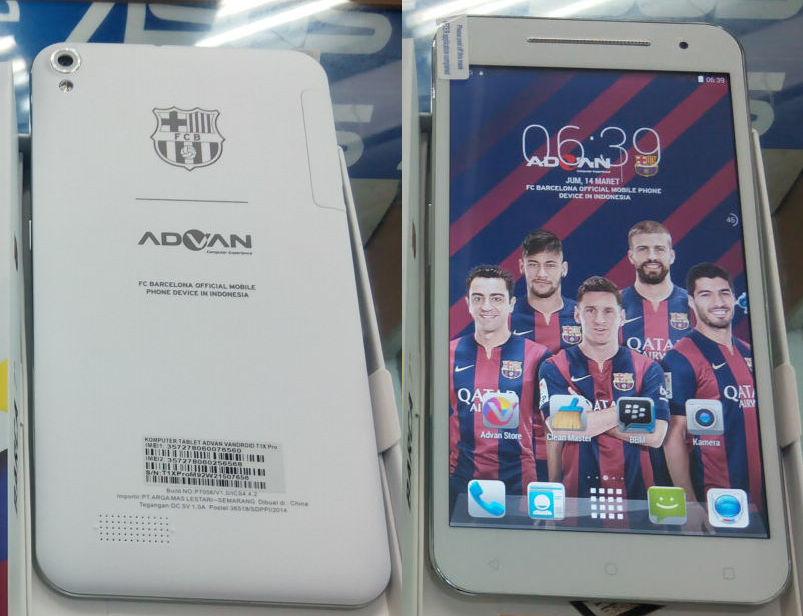 Jual Advan Barca Tab Terbaru IPS 7 Octa Core 17GHz RAM 1GB Kamera Bagus