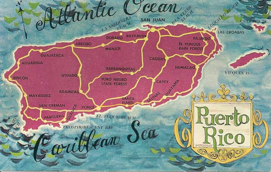Mapa Archipelago de Puerto Rico