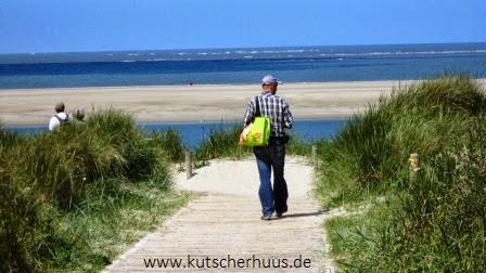Strandaufgänge auf der Nordseeinsel Langeoog