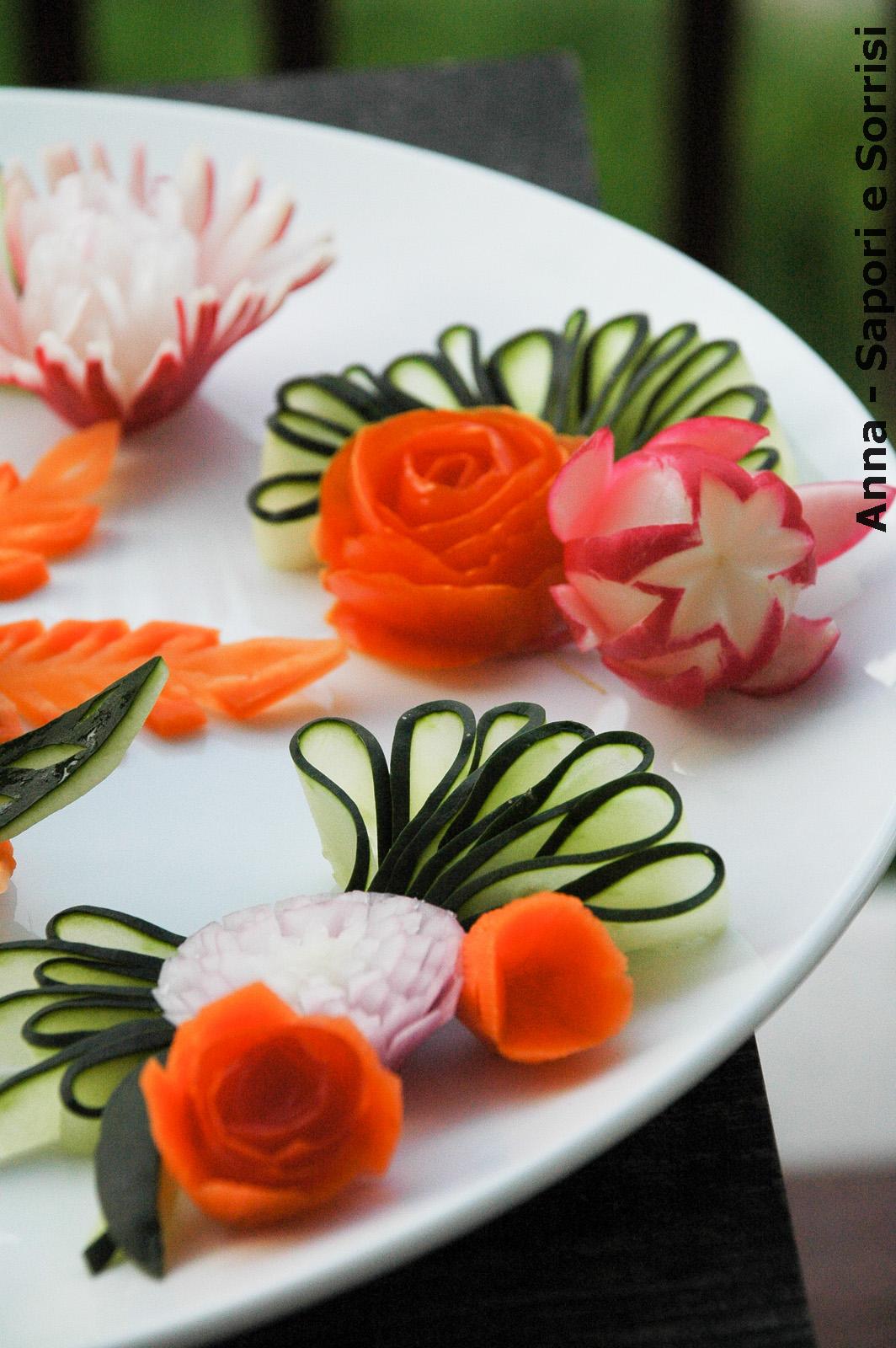 Anna sapori e sorrisi decorazioni piatti con verdura for Decorazioni piatti gourmet