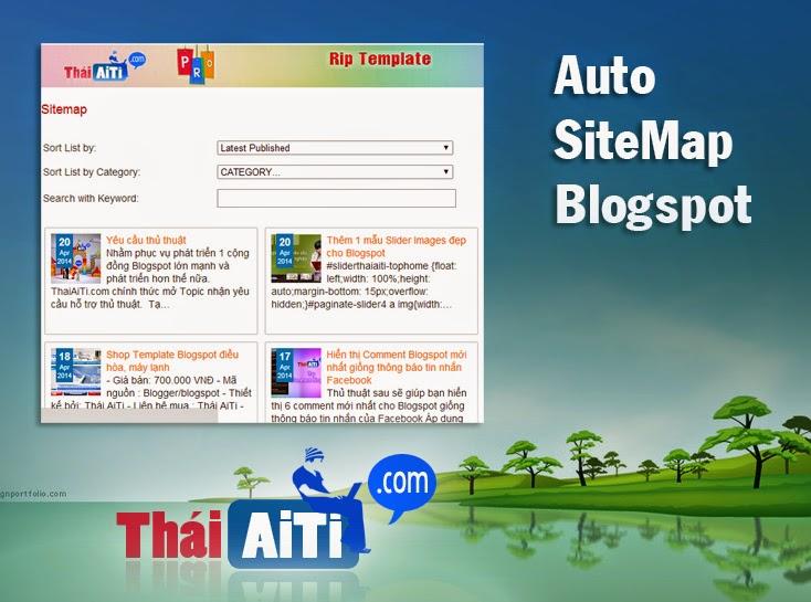 Sitemap tự động lấy nhãn chuyên nghiệp giống ThaiAiTi.com