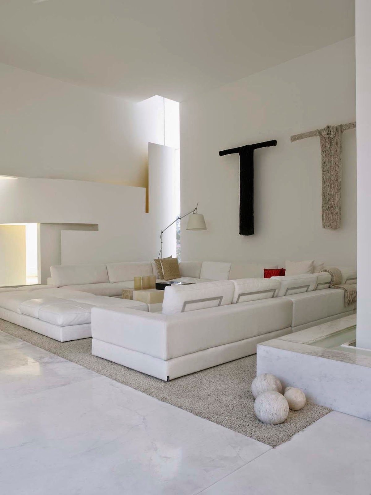And With Their Linear Purity White Walls Act As A Gallery For Contemporary Art Collection Many Items Of Which Were Specially Created The
