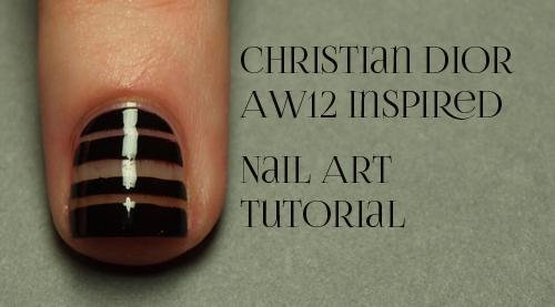 Christan Dior AW12 Fashion Nail Art Tutorial